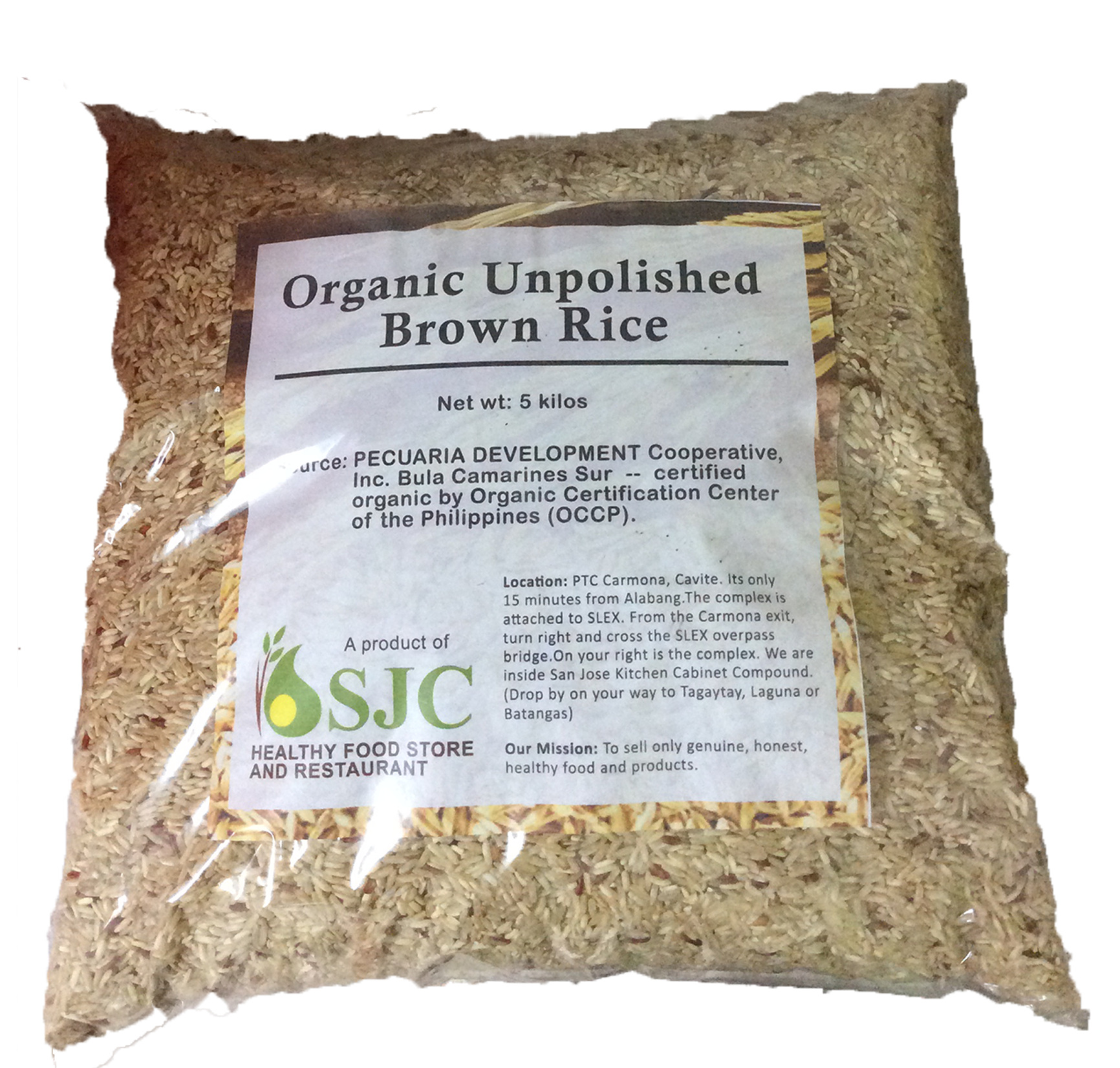 Organic Unpolished Brown Rice (2 kg)