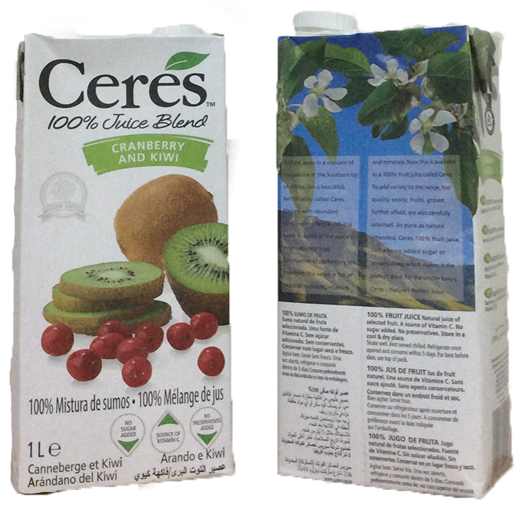 Ceres Cranberry & Kiwi Juice