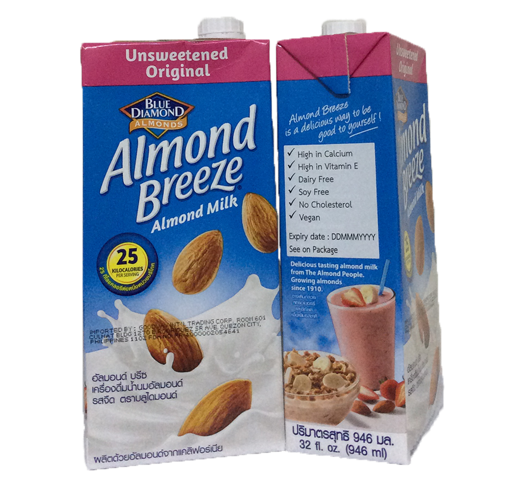 Almond Milk - Unsweetened 946 ml